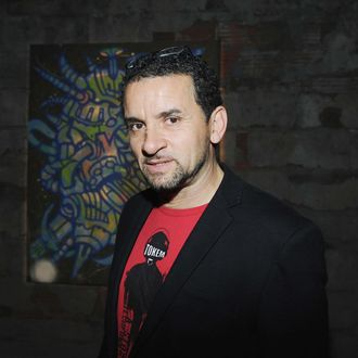 Lee Quinones==DEEP SPACE With Artists MATTA, FUTURA, RAMMELLZEE and PHASE 2==Joseph Nahmad Contemporary, Highline Building, NYC==November, 8, 2012.