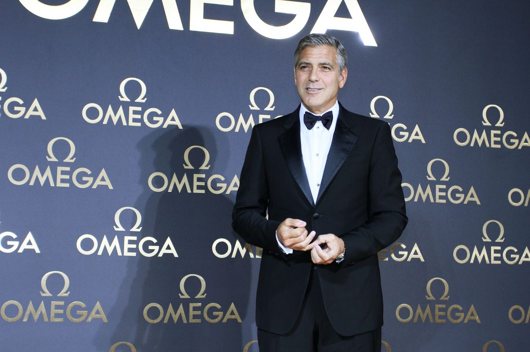 22 May 2014, Shanghai, China --- Red carpet arrivals for the Omega Le Jardin Secret dinner party in Shanghai, China on Friday May 16, 2014. Pictured: George Clooney --- Image by ? TPG/Splash News/Corbis