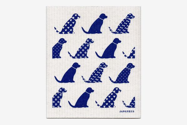 Jangneus Blue Dogs Swedish Dishcloth