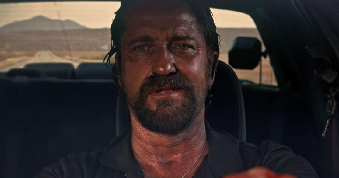 Gerard Butler Gets Locked Up in Copshop trailer