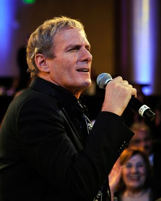 BEVERLY HILLS, CA - DECEMBER 09: Singer Michael Bolton performs onstage during the launch of The Andrea Bocelli Foundation at the Beverly Hilton Hotel on December 9, 2011 in Beverly Hills, California. (Photo by John Sciulli/Getty Images for Andrea Bocelli Foundation)