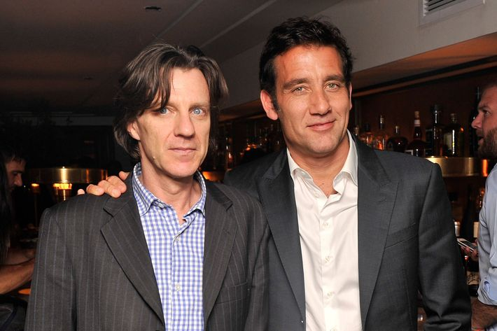 "Director James Marsh and actor Clive Owen attend The Cinema Society & BlackBerry Host A Screening Of Magnolia Pictures' ""Shadow Dancer"" After Party on May 30, 2013 in New York City."