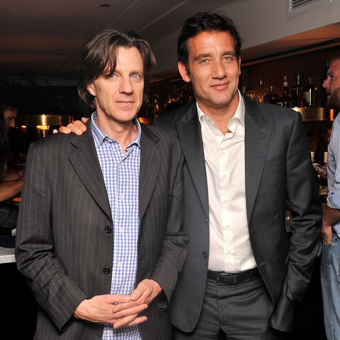 Director James Marsh and actor Clive Owen attend The Cinema Society & BlackBerry Host A Screening Of Magnolia Pictures'