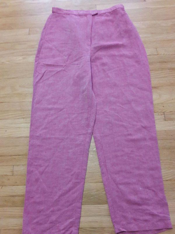 Eileen Fisher Linen Pink Pants