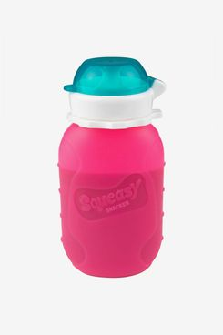 Squeasy Snacker Spillproof Silicone Reusable Food Pouch - 6 Oz.