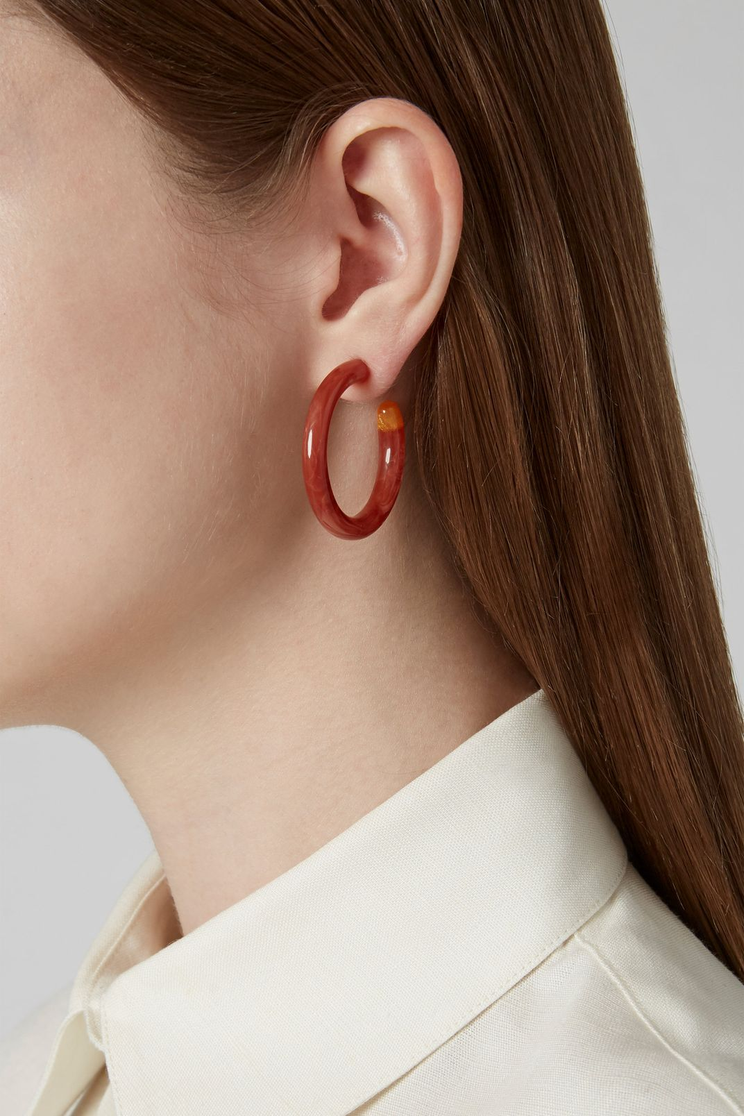Cult Gaia Rhea Marbled Acrylic Hoop Earrings