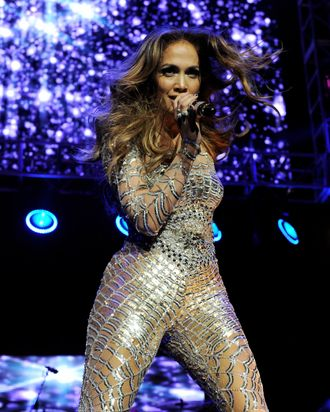 LOS ANGELES, CA - MAY 14: Singer Jennifer Lopez performs at KIIS FM's Wango Tango at the Staples Center on May 14, 2011 in Los Angeles, California. (Photo by Kevin Winter/Getty Images)