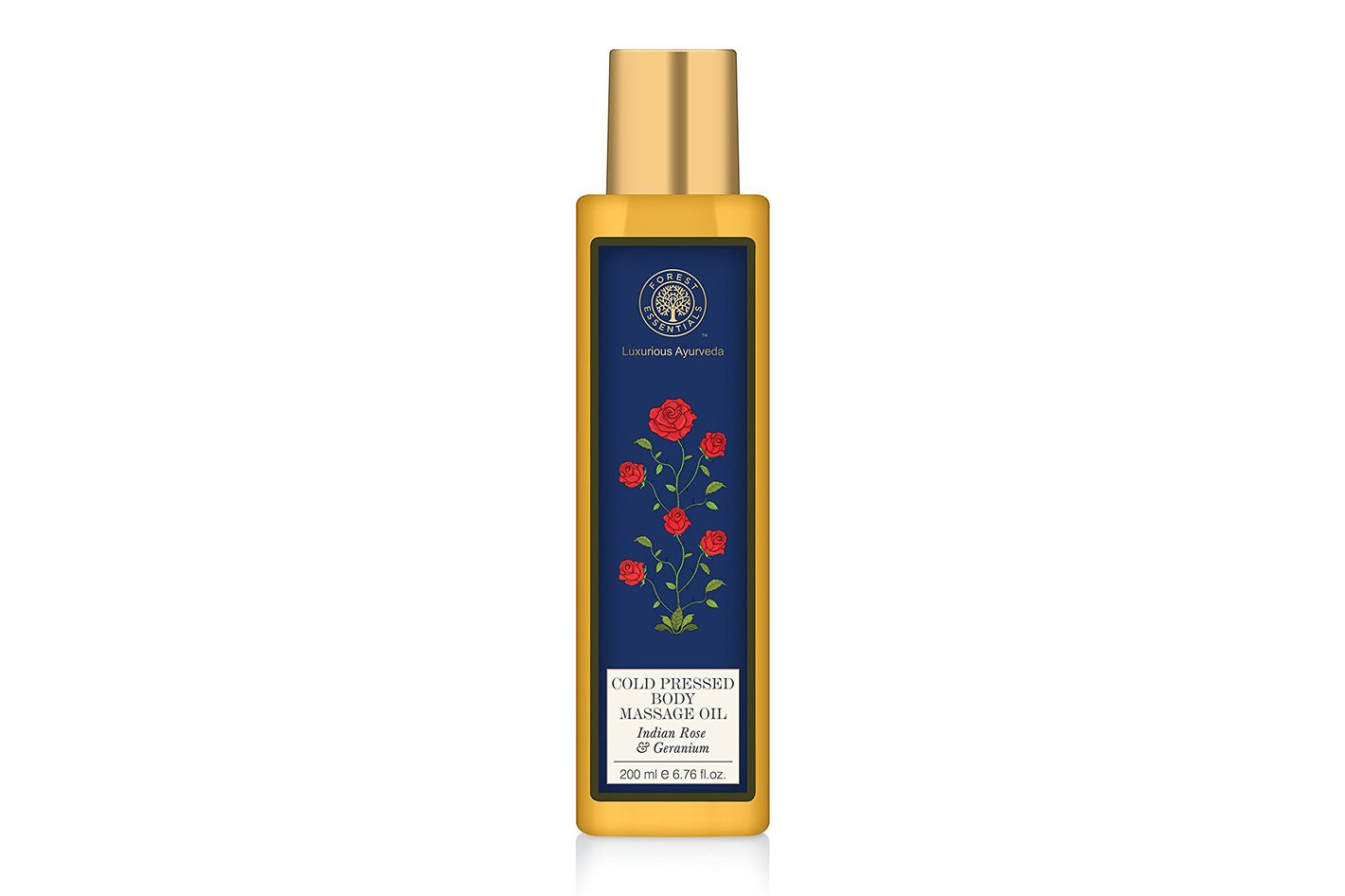 Forest Essentials Cold-Pressed Body Massage Oil Indian Rose & Geranium