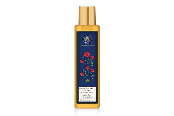 Forest Essentials Cold-Pressed Body Massage Oil Indian Rose & Geranium