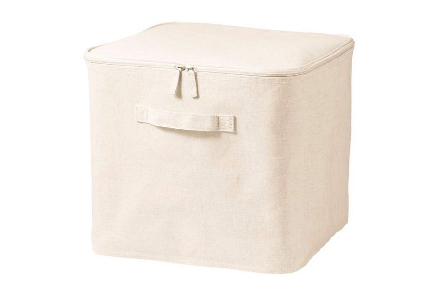 Best Clothing Storage Bins. Polyester Cotton Linen Square Soft Box, Large  With Lid