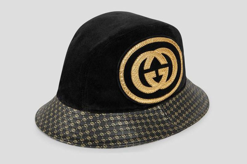 Gucci Leather Hat