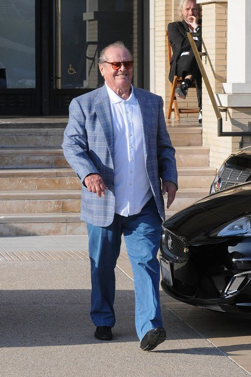 Jack Nicholson spotted leaving Barneys New York with daughter Lorraine after doing a little shopping in Beverly Hills.