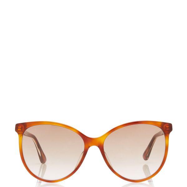 Gucci Web Acetate Cat-Eye Sunglasses