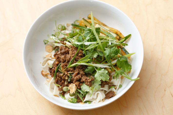 Win Son's zhajiangmian is made with egg noodles and lamb.