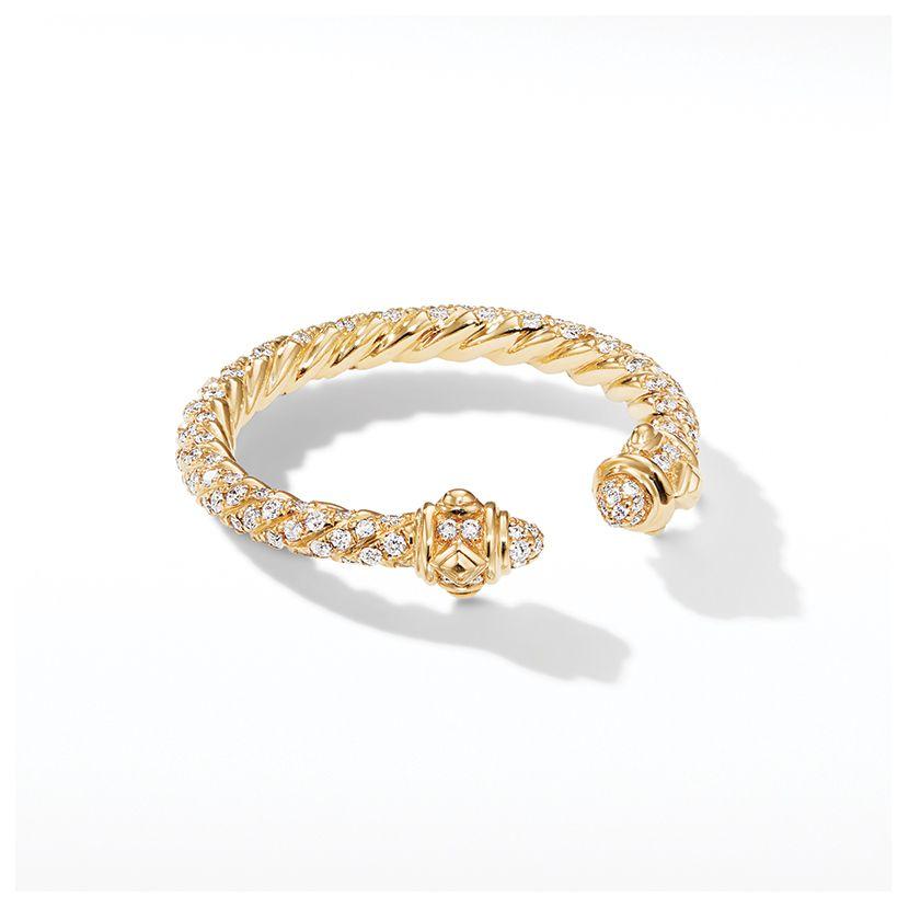 Renaissance Full Pavé Ring in 18K Gold