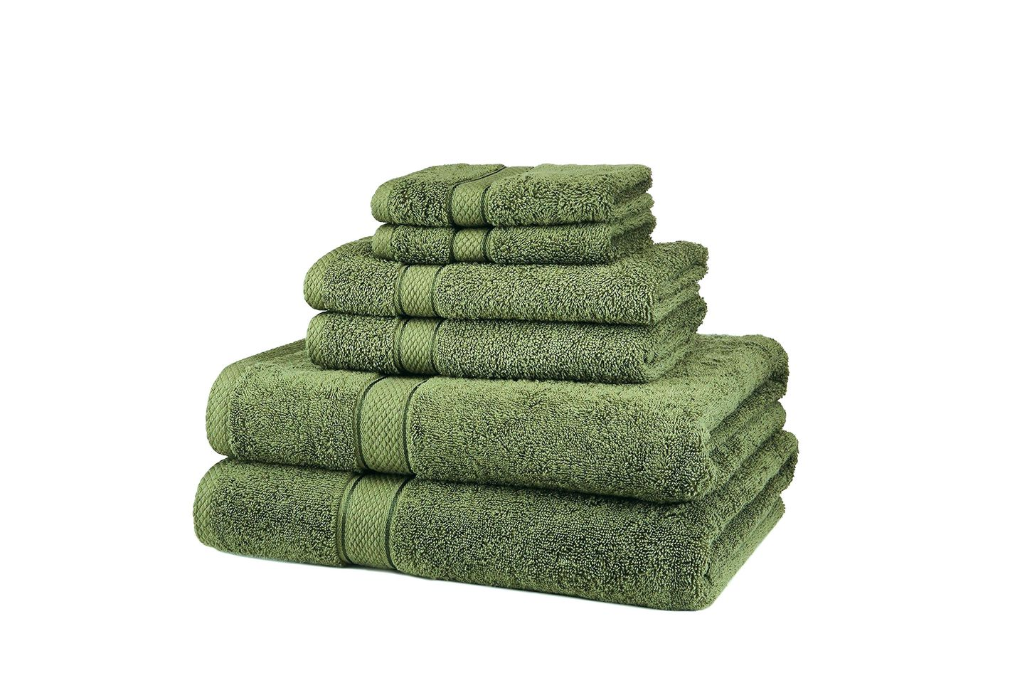 Pinzon  set of six blended-Egyptian-cotton towels