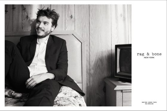 <b>Model:</b> Emile Hirsch  <b>Photographer: </b>Glen Luchford