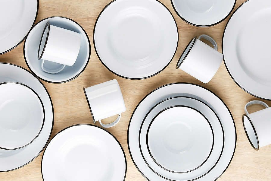 16-Piece Edged Enamelware Starter Kit