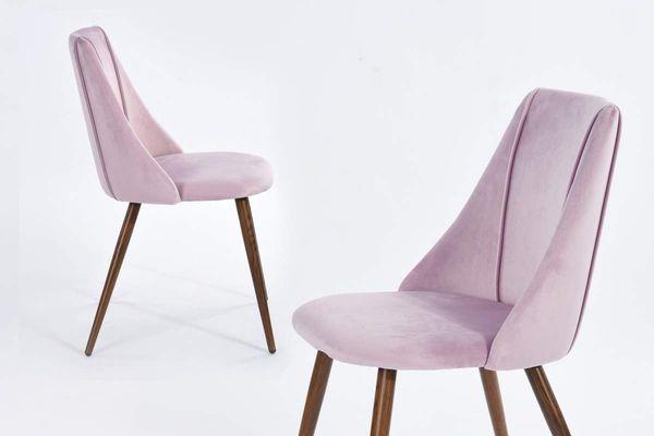 EGGREE Mid Century Modern Accent Living Room Chairs (Set of 2), Velvet, Purple