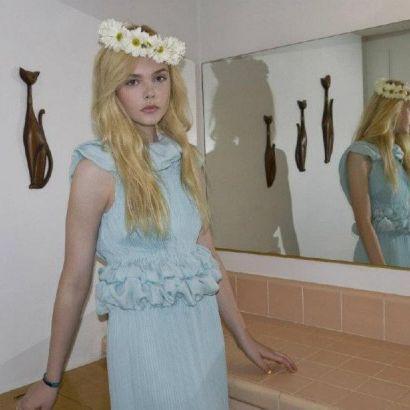 Elle Fanning in Rodarte's spring collection for <em>A</em> magazine.