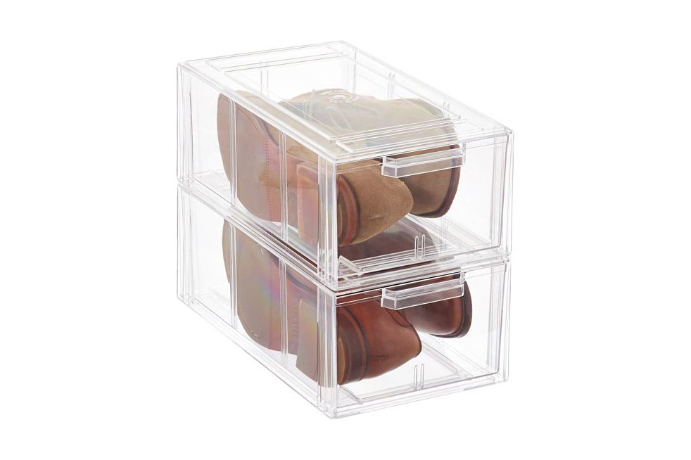 Clear Stackable Menu0027s And Athletic Shoe Drawer