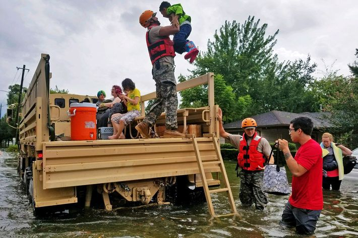 Hurricane Harvey rescue operations in Houston. Photo: Getty Images