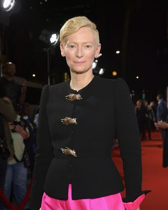 Tilda Swinton at the Amazon premiere of Suspiria.