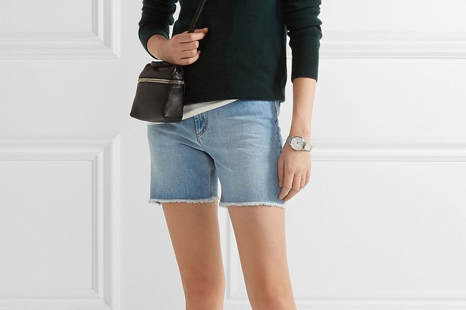 Etoile Isabel Marant Frayed Denim Shorts