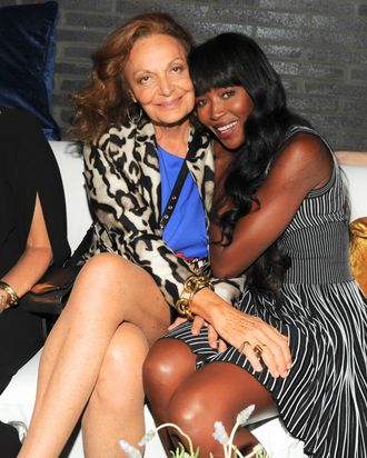 Diane von Furstenberg and Naomi Campbell.