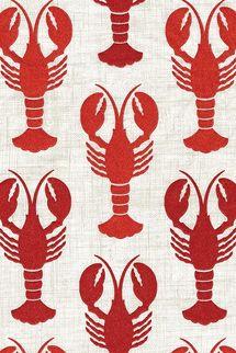 Caspari Disposable Folded Bathroom Hand Towel, Lobsters Guest Towels, Pack of 15
