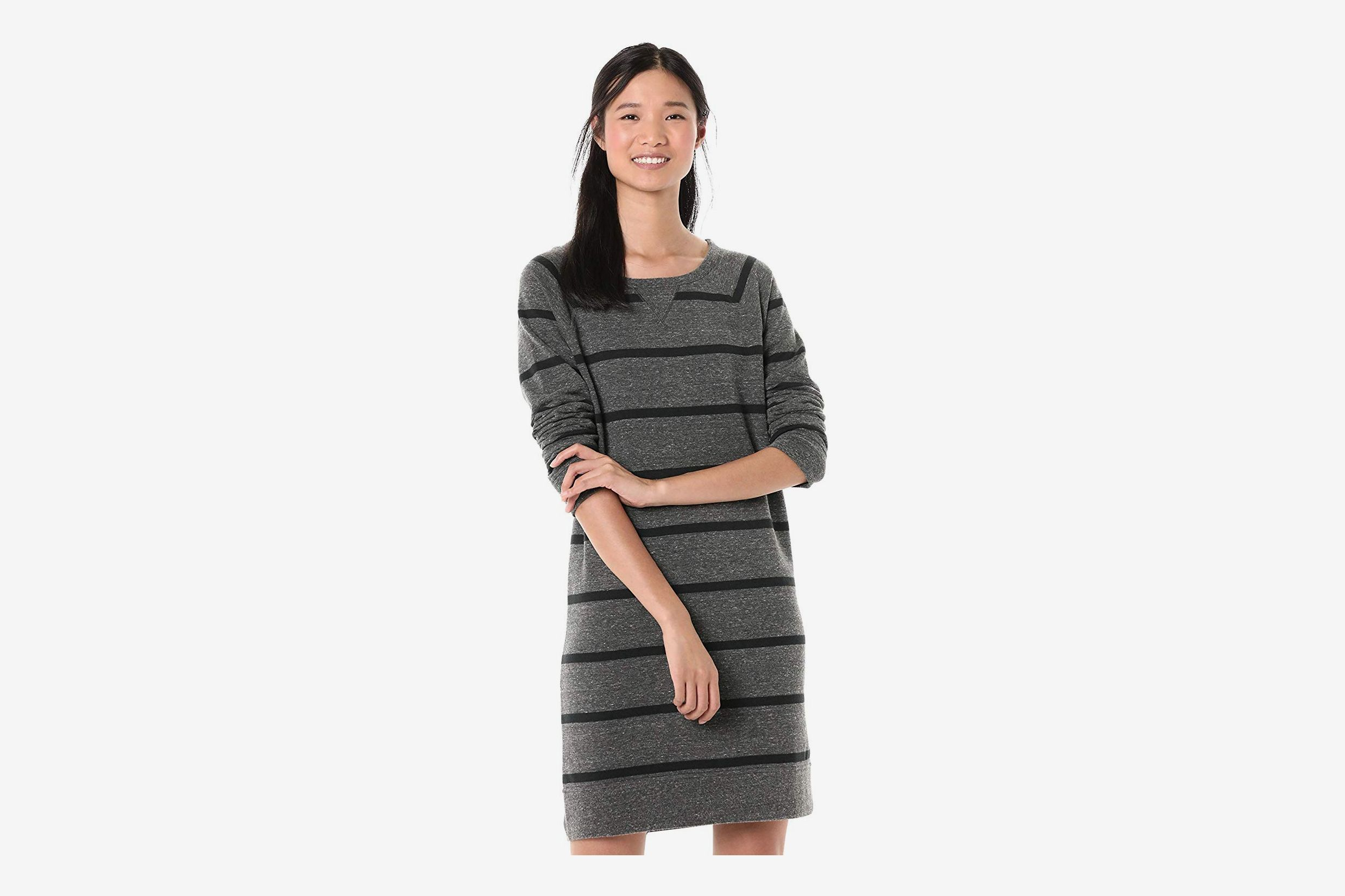 Goodthreads Women's Modal Fleece Popover Sweatshirt Dress