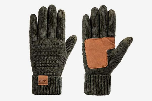 Alepo Wool Knit Thermal Thinsulate-Lined Touchscreen Anti-Slip Gloves
