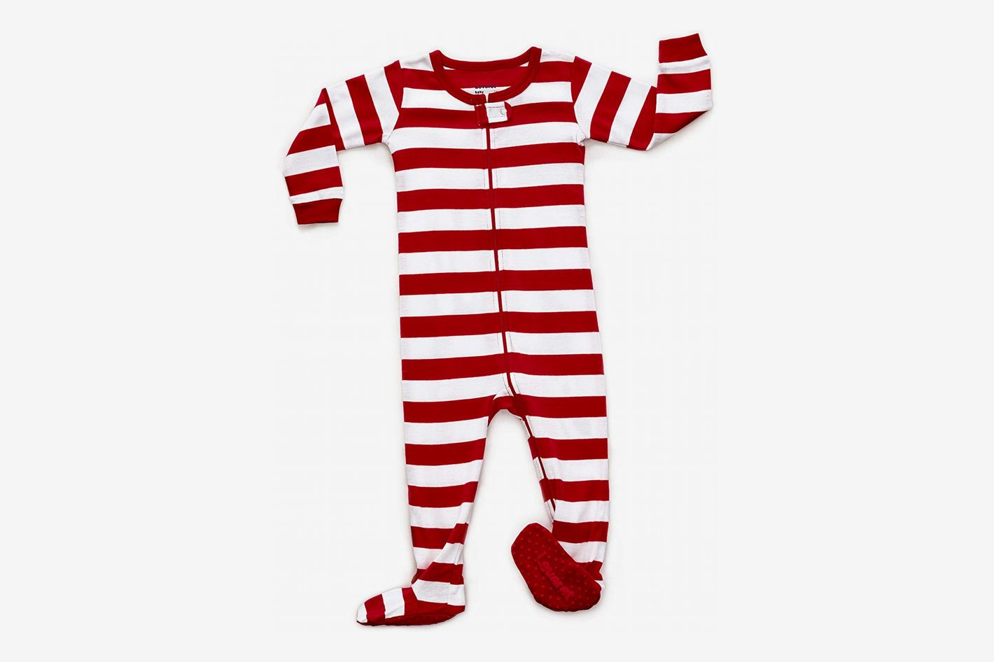 fa7a76ec57 Leveret Striped Footed Pajamas Sleeper