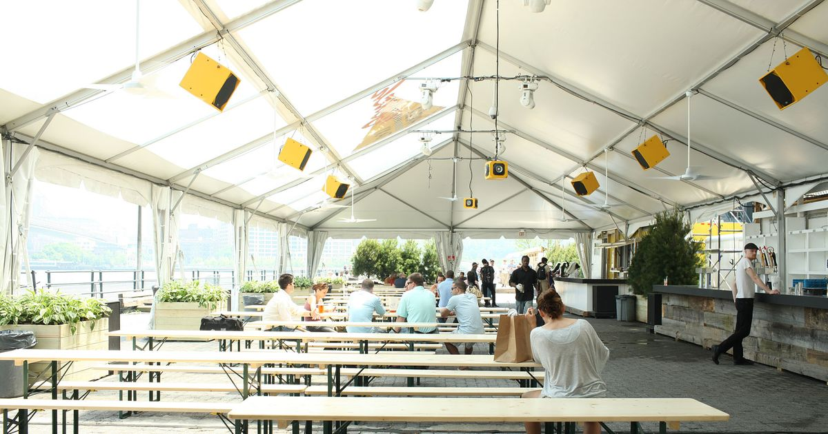 First Look At Beekman Beer Garden Beach Club Now Open For Ping Pong Grub Street