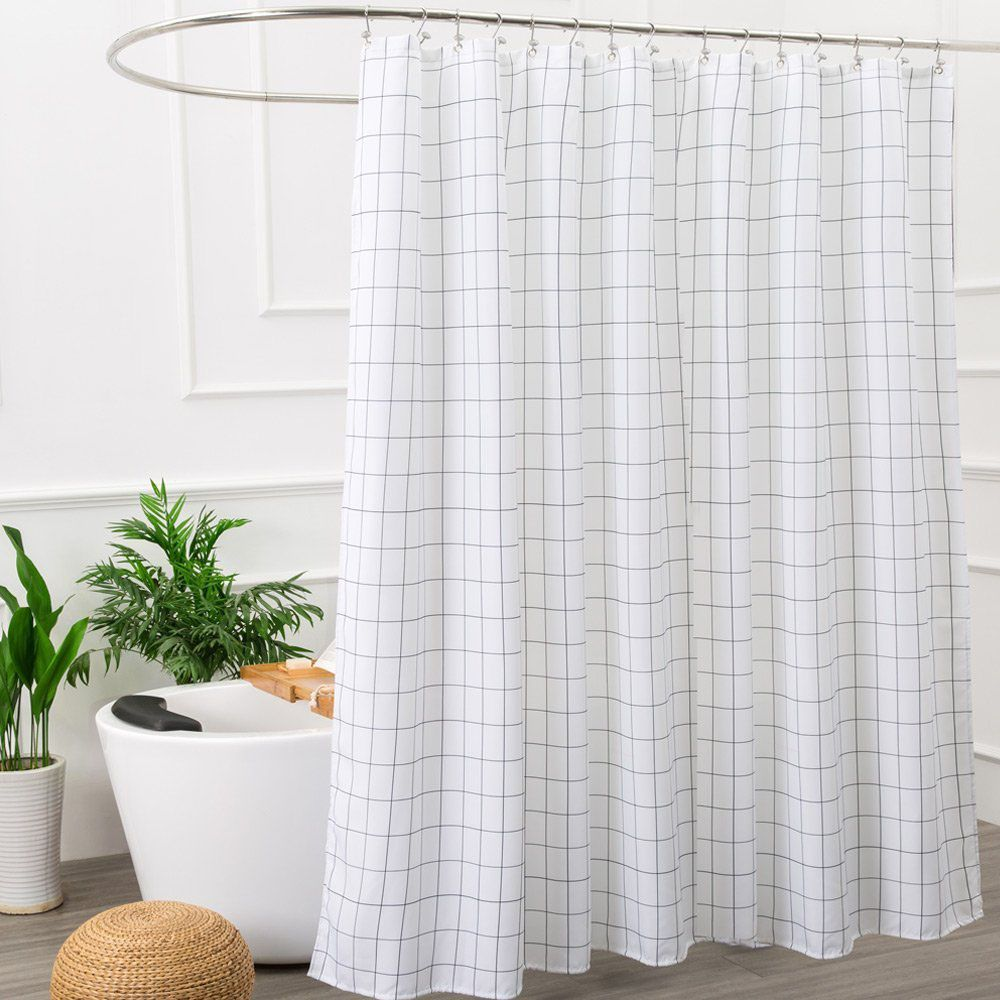 Aimjerry Mold Resistant Fabric Shower Curtain