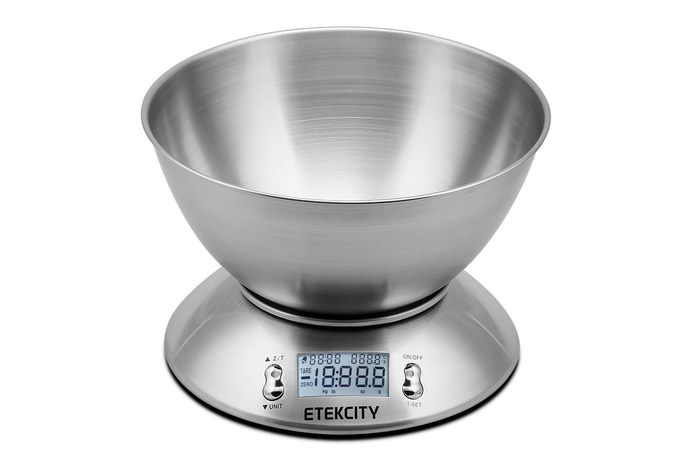 etekcity stainless steel kitchen scale with stainless steel bowl