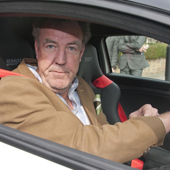 13 Mar 2015, Cheltenham, Gloucestershire, England, UK --- Celebrities brave the rain on Day Four of the Cheltenham Festival. Pictured: Jeremy Clarkson --- Image by ? Mirrorpix/Splash News/Corbis