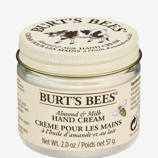 Burt's Bees 99.9% Natural Moisturising Almond and Milk Hand Cream Jar