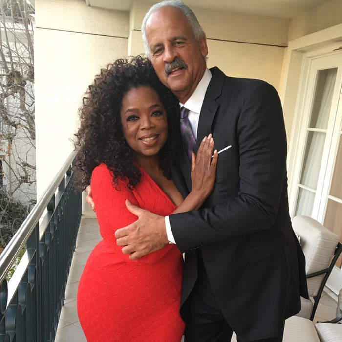 Oprah and Stedman.