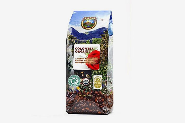 Java Planet Colombian USDA Organic Coffee Beans, 1 Pound