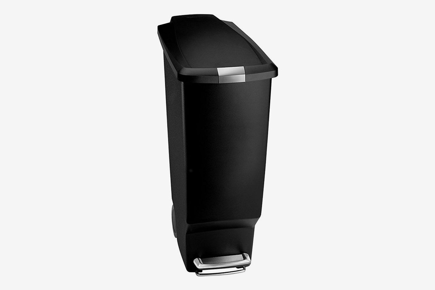 Charmant Simplehuman 40 Liter / 10.6 Gallon Slim Kitchen Step Trash Can, Black  Plastic With Secure