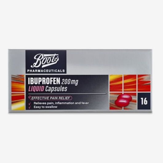 Boots Ibuprofen Liquid Capsules 200mg -16 Capsules