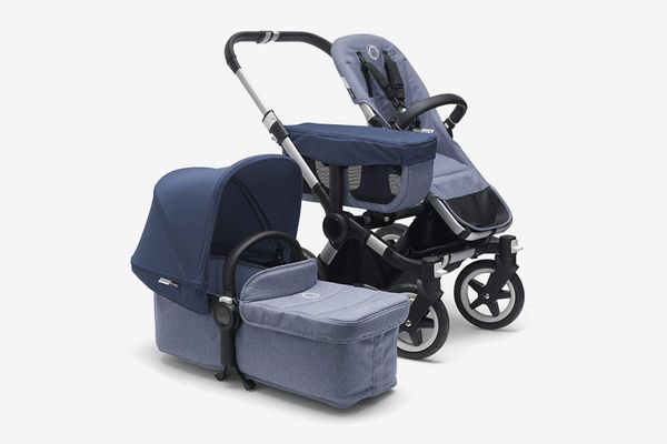 Bugaboo Donkey2 Complete Mono Stroller, Blue Mélange/Sky Blue