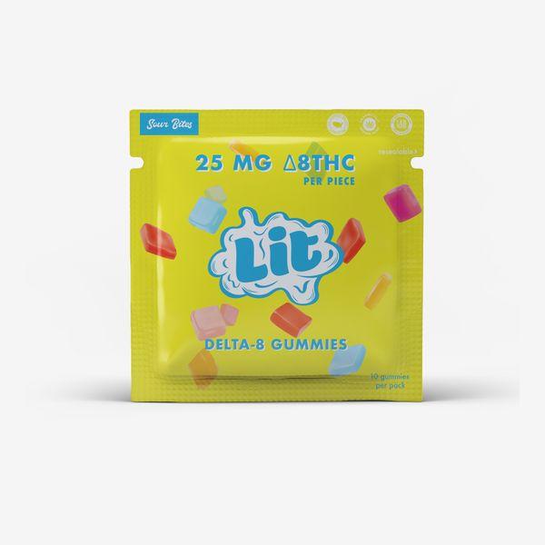 Lit 25MG Delta 8 Gummies(10ct)