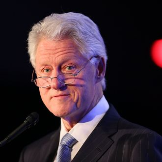 LOS ANGELES, CA - FEBRUARY 07: Former President Bill Clinton attends Will.I.Am's annual TRANS4M Day Conference focusing on TRANS4Ming America in 2013 on February 7, 2013 in Los Angeles, California. (Photo by Joe Scarnici/Getty Images for TRANS4M)