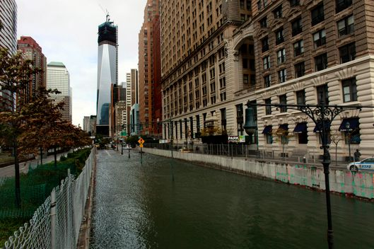 NEW YORK, NY - OCTOBER 30: The Brooklyn Battery Tunnel is flooded after a tidal surge caused by Hurricane Sandy, on October 30, 2012 in Manhattan, New York. The storm has claimed at least 16 lives in the United States, and has caused massive flooding across much of the Atlantic seaboard. US President Barack Obama has declared the situation a 'major disaster' for large areas of the US East Coast including New York City, with wide spread power outages and significant flooding in parts of the city. (Photo by Allison Joyce/Getty Images)