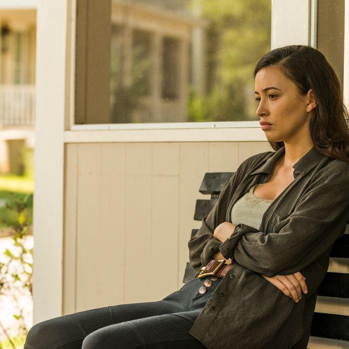 Christian Serratos as Rosita Espinosa- The Walking Dead _ Season 7, Episode 8 - Photo Credit: Gene Page/AMC