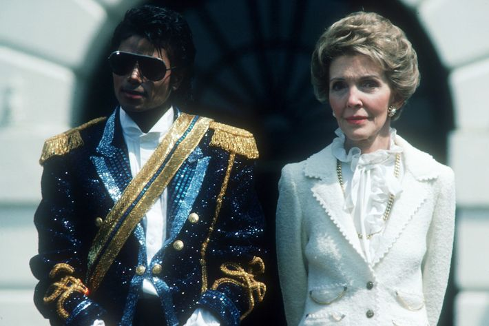 Michael Jackson with Nancy Reagan.
