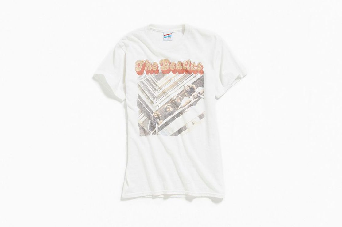 Junk Food The Beatles Glitter Tee