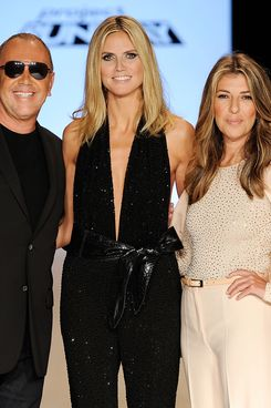 Michael Kors, Heidi Klum, and Nina Garcia. (Not pictured: the shrink.)